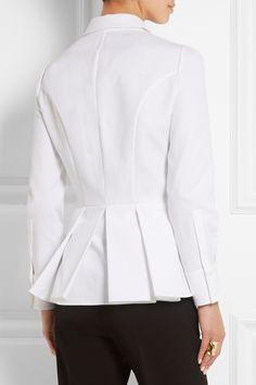 Alexander McQueen|Cotton-piqué peplum shirt|NET-A-PORTER.COM, $935