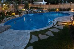 Pool idea and stepping stones
