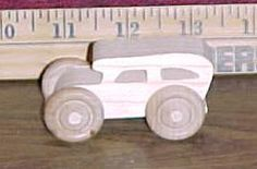 Handcrafted Wood Toy Car 109AH-U unfinished or finished by VMWoodFactree for $1.85