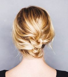 The knotted updo