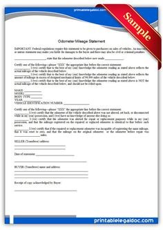 Get Odometer Mileage Statement forms free printable. With premium design and ready to print online . Legal Forms, Statement Template, Online Form, Catering Services, Free Resume, Sample Resume, Free Printables, Templates, Make It Yourself
