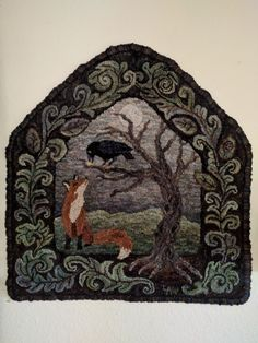 The Fox and the Crow, Great fable, Lin's Primitive by design.
