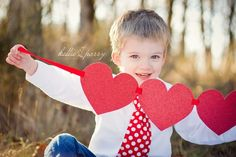 Send out Valentines Day photos to family members just so they know that you are thinking of them. Super Cute.