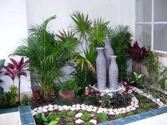 4 Astounding Cool Ideas: Front Garden Ideas Lawn garden ideas for small spaces seating.Garden Ideas Kids Back Yard. Small Gardens, Outdoor Gardens, Ideas Para Decorar Jardines, Garden Art, Garden Design, Terrace Garden, Tropical Garden, Front Yard Landscaping, Landscaping Ideas