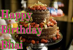 Happy Birthday Brother Wishes, Birthday Cake For Brother, Image Birthday Cake, Happy Birthday Status, Happy Birthday Wishes Images, Birthday Cheers, Happy Birthday Dear, Happy Birthday Quotes, Happy Diwali Wishes Images
