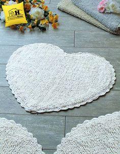 Tappeto bagno forma cuore