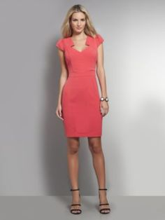 Diamond Cut-Out Sheath Dress from New York and company. Love it! Outfit