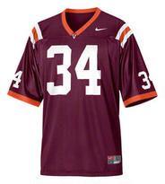 Virginia Tech Hokies Kids 4-7 Maroon Nike Replica Football Jersey at Modell's