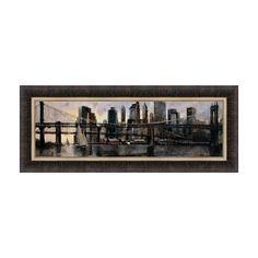 Home Decorative Down at East River by Marti Bofarull Framed Art Print
