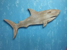 Shark Sign Wall Art Driftwood Colour Beach House Coastal Seaside Decor by CastawaysHall  READY TO SHIP  A new member to the shark family at CastawaysHall in my very popular driftwood colour finish. It has a warm and natural feel which would fit into cottage to contemporary style decor. Perfect beach house (or any house) art. Hang him on the wall, over a door, on the mantle. Made of thick full 1 inch wood. This shark is finished on both sides and each side is a little different from the other…