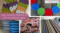 23 Free Crochet Patterns to Use Up Leftover Yarn | AllFreeCrochet.com