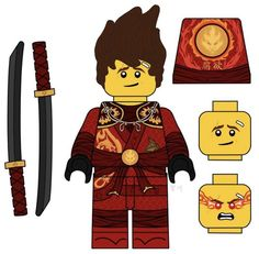 Lego Ninjago Lloyd, Ninjago Kai, Lego Kai, Lego Custom Minifigures, Mortal Kombat 9, Arte Ninja, Minecraft Banners, Disney Marvel, Lego Movie