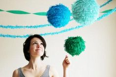 Manualidades de papel crepé para fiestas | Ideas para Decoracion