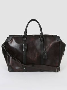 300a13d880f1 Dolce   Gabbana - Brown Leather Men Travel Bag