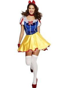adult fever snow white costume ladies fairytale fancy dress sexy outfit view - Diaper Costume Halloween