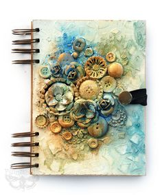 Finnabair: Art Recipe: Book in Pastels and Gold