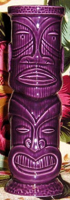 Shag Ku Ku Kana Purple from the collection of Hiphipahula - Ooga-Mooga! Tiki Mugs & More