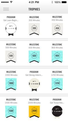 badges on Nike Training Club #UI #design #digital