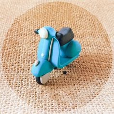 Dollhouse Miniature VESPA mini motorcycle retro polymer clay handmade