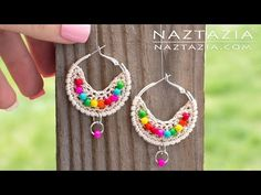 Crochet Boho Bead Earrings - Bohemian Beaded Earring - DIY Tutorial - YouTube
