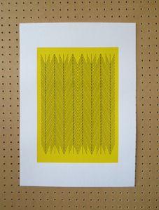 Image of SALE 'Herringbone' Yellow A3 Screen Print £10