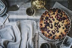 Local Milk | gluten free cherry clafoutis - maybe use honey instead of sugar? No dusting in the end?
