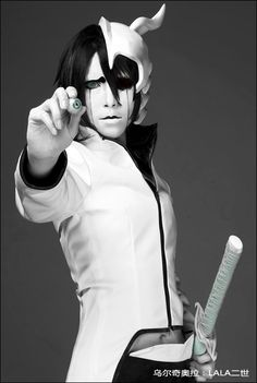 Ulquiorra cosplay #bleach #cosplay One of the best cosplays I've ever seen *-*