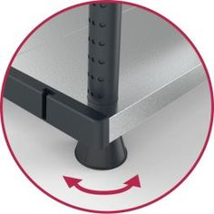 Scaffale modulabile metallo/plastica con doppia opzione di montaggio - 5 ripiani