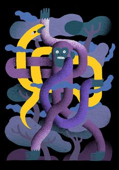 Snakeman by Levi Jacobs. One of a sea of new work on his site