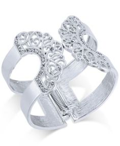 Inc International Concepts Pave Lace Hinged Cuff Bracelet, Only at Macy's  -