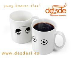 MERCHANDISING - REGALO DE EMPRESA - REGALO PUBLICITARIO - DESDESL  En Desde SL, tenemos los regalos más originales. ¿Qué os parece esta taza que? Se le abren los ojos a medida que le vamos echando el café!!!  http://desdesl.es/