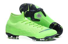 lowest price 3c7dc aab42 Classic Nike Mercurial Superfly VI Elite FG Soccer Cleats - Green Black