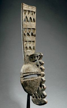 Africa | Mask from the Afikpo people of Nigeria | Wood