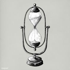 Hand drawn sandglass isolated on background - Buy this stock illustration and explore similar illustrations at Adobe Stock