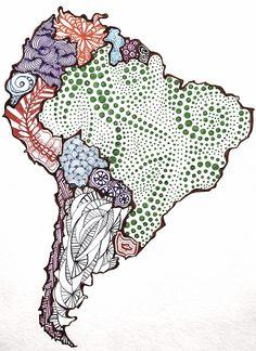 South America Sketch