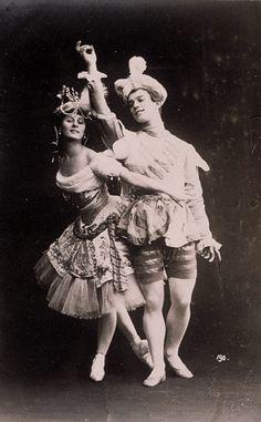 Le Pavillon d'Armide, Anna Pavlova (Armide) et Vaslav Nijinsky (l'Esclave) (1907) © St Petersburg State Museum of Theatre and Music