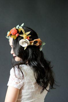 DIY Felt Flower Crown // Delia Creates
