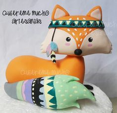 WOODLAND TRIBAL FOX COLD PORCELAIN CAKE DECO TOPPER HAND PAINTED