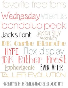 Favorite Free Fonts & a Free Chalkboard Download - by Sarah Halstead