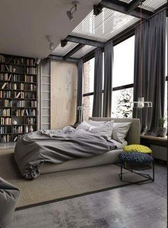 Industrial Style Bedroom Design Ideas-34-1 Kindesign