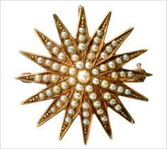 1900s Birks Starburst Brooch/Pendant