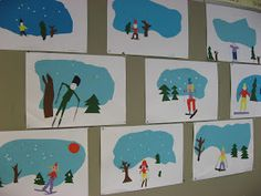 do with ski pup and have hot chocolate .do with ski pup and have hot chocolate Winter Art Projects, Winter Project, Kindergarten Art Projects, School Art Projects, Classe D'art, Primary School Art, January Art, Art Lessons Elementary, Art Classroom