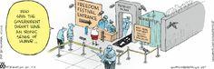 Government has an ironic sense of humor ~ Non Sequitur Cartoon for Jul/04/2013