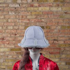 90s faux shearling bucket hat / bucket hat by arsenickittyvintage