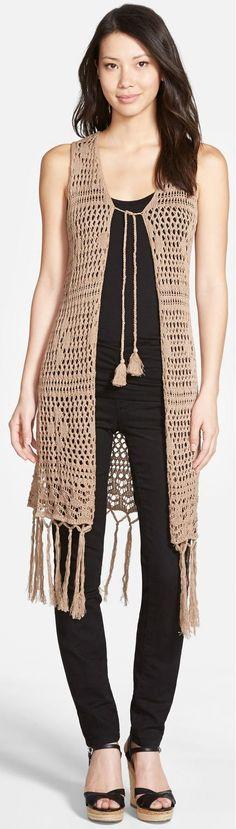 Long Crochet Vest by By Love Fate Destiny