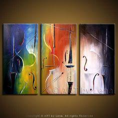 I love Art by Lena!  TROPICANA STRINGS - Music Art, Music Instruments, Decorative