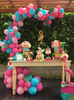 13th Birthday Parties, Luau Birthday, Birthday Party Decorations, Party Themes, Aloha Party, Luau Party, Flamenco Party, Flamingo Birthday, Barbie Party