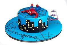 Spiderman cake - by Jakescakes @ CakesDecor.com - cake decorating website