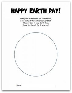 Earth Day Printables For Kindergarten – Earth Day Crafts  Earth Day Preschool Activities