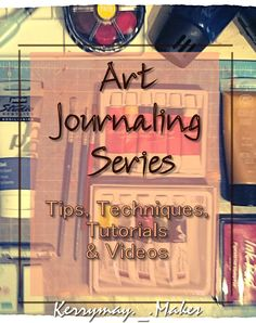 This art journaling series is all about art techniques and tutorials to get you started in your creative art journal.  I will look at using distress inks with make up sponges, adding salt to create effects in watercolour, adding talc to thicken acrylic pa